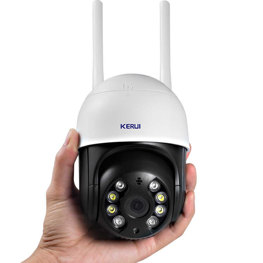Камера купольна спостереження WiFi IP 4X PTZ Zoom KERUI N8B Вулична 3 Mp, оптика Sony