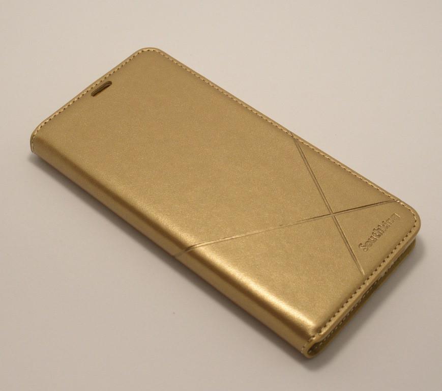 Чехол-книжка для смартфона Xiaomi Redmi 8 золотая MKA