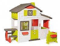 Smoby Toys Дом для друзей с дверным звонком столиком и забором (810203)