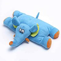Детская подушка - игрушка для путешествий Travel Blue Trunky the Elephant Travel Pillow Слон голубой (289)