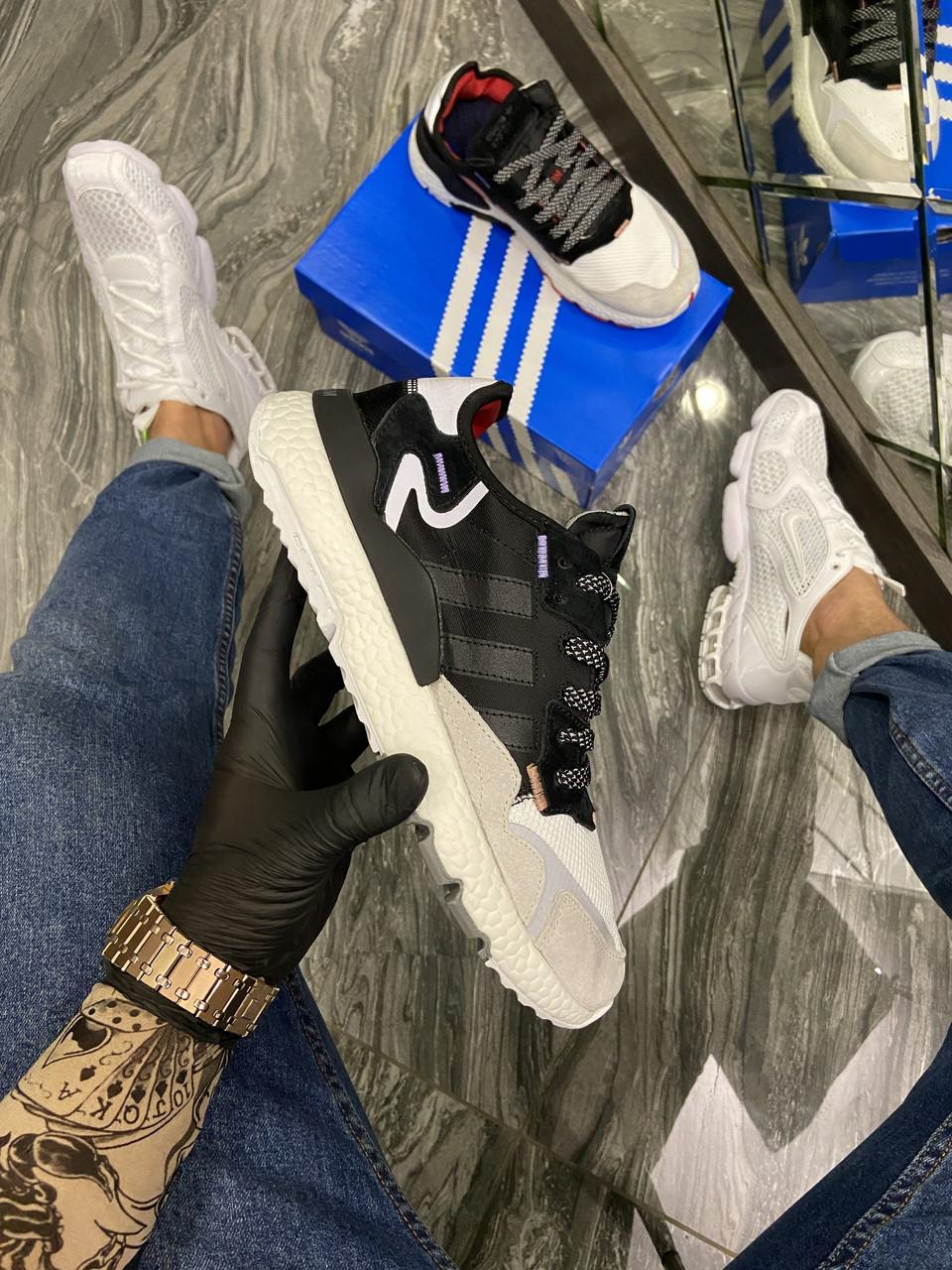 Adidas Nite Jogger 3M Black White (Чорний)