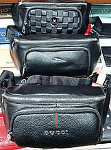 Мужские брендовые барсетки, сумки на пояс из натуральной кожи