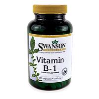 Витамин B1 (тиамин), 100 мг 250 капсул, Swanson
