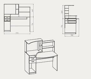 """Стіл комп'ютерний """"Комфорт ― 4"""", фото 2"""