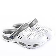 Мужские сабо-кроксы оптом Гипанис. 41-45рр. Модель Гипанис СМ118 черно-синий Бело-серый