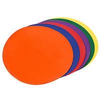 Плоский маркер для разметки (6шт) C-1406 (резина, d-23см, 6шт в уп., цена за упаковку, цвета в ассортименте)