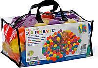 Дитячі кульки для сухого басейну Intex 49602, 100 шт, діаметр 6.5см