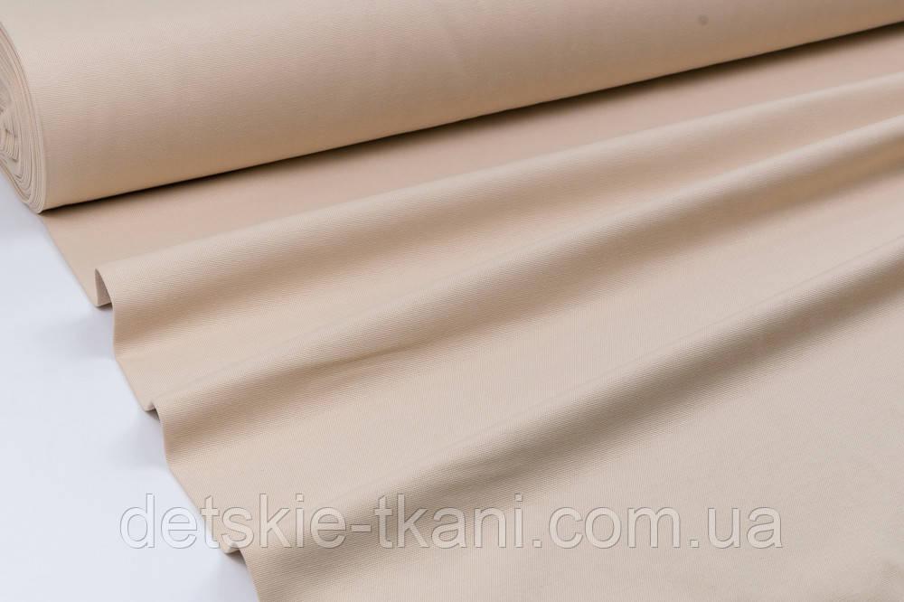 Однотонная ткань Duck цвет бежевый
