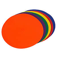 Плоский маркер для разметки (6шт) C-1408 (резина, d-26см, 6шт в уп., цена за упаковку, цвета в ассортименте)