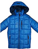 Куртка зимняя для мальчика на двойном холлофайбере, удлиненная