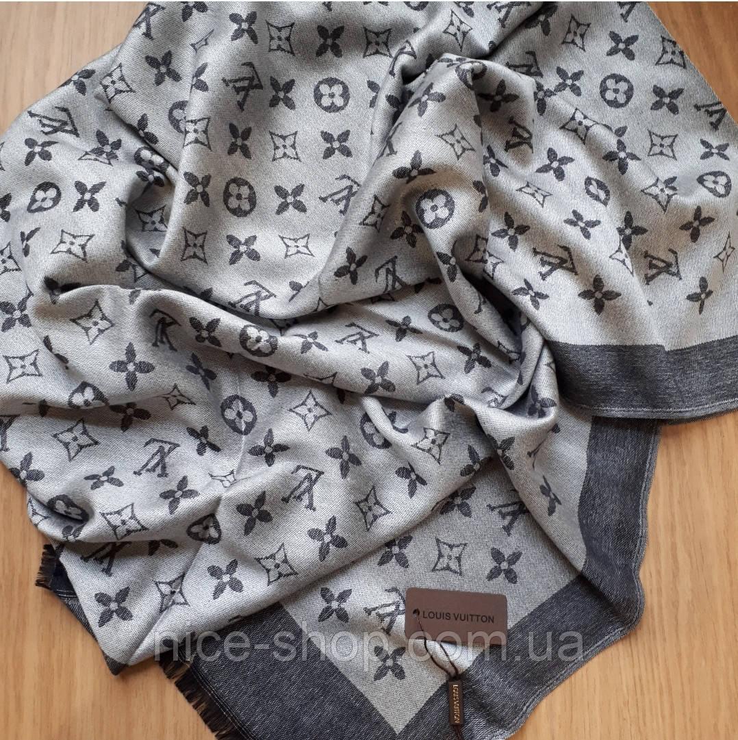 Палантин Louis Vuitton серый комби