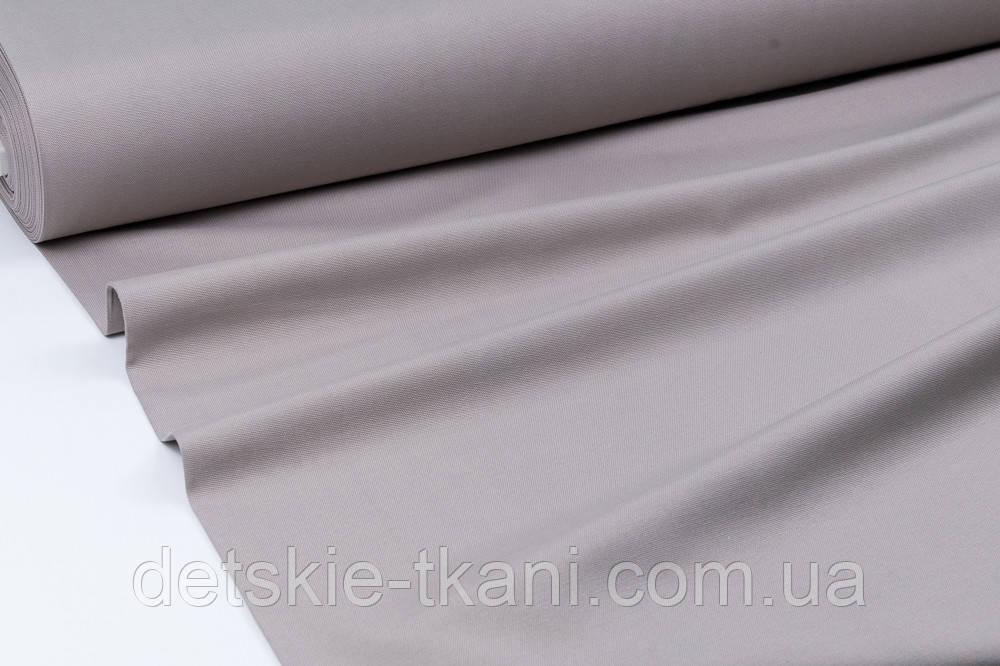 Однотонна тканина Duck сірого кольору (теплий тон)
