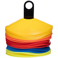 Фишки для разметки поля на пластиковой подставке 50шт С-6419 (пластик,d-20см, 50шт, 19гр, уп. PL чехол,