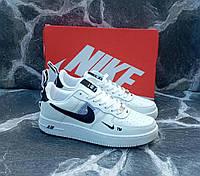 Кроссовки мужские кожа белые Nike Air Force