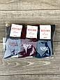 Женские носки стрейчевые Житомир Люкс с Рисунком цветов орхидеи 36-39 12 шт в уп микс 3 цветов, фото 2