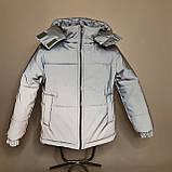 Світловідбиваюча жіноча куртка з рефлективної тканини з капюшоном р-ри 38-48 Ванда Рефлектив, фото 3
