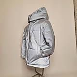 Світловідбиваюча жіноча куртка з рефлективної тканини з капюшоном р-ри 38-48 Ванда Рефлектив, фото 5
