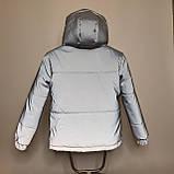 Світловідбиваюча жіноча куртка з рефлективної тканини з капюшоном р-ри 38-48 Ванда Рефлектив, фото 7