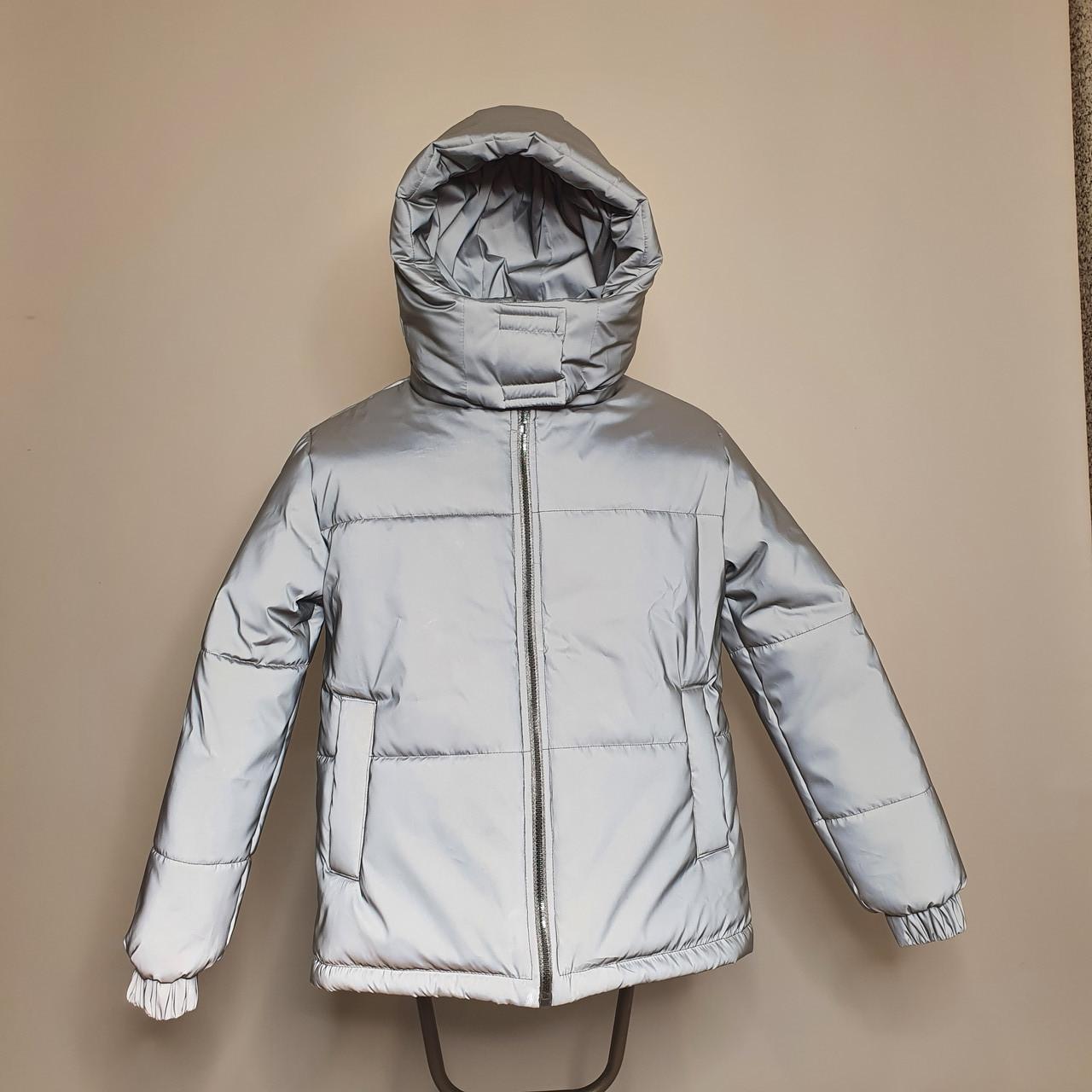 Світловідбиваюча жіноча куртка з рефлективної тканини з капюшоном р-ри 38-48 Ванда Рефлектив