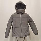 Світловідбиваюча жіноча куртка з рефлективної тканини з капюшоном р-ри 38-48 Ванда Рефлектив, фото 4