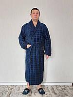 Халат чоловічий махровий з коміром шалька 100%cotton, фото 1