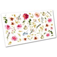 Слайдер-дизайн (водные наклейки, фотодизайн) для ногтей Цветы №2111