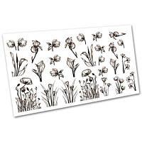 Слайдер-дизайн (водные наклейки, фотодизайн) для ногтей Цветы №2114