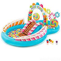 """Надувний ігровий центр з басейном """"Веселий фрукт"""" 57158 Intex, розмір 244х191х91см"""