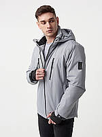 Куртка парка мужская весенняя, спортивная куртка парка , серая