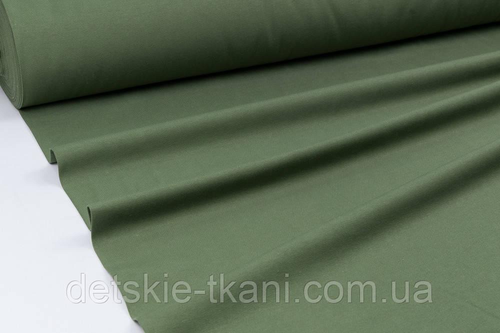 Однотонна тканина Duck темно-зеленого кольору