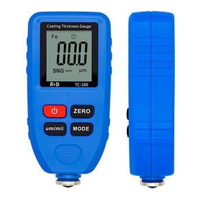 TC100-grey  TC-100 TC100 тс100 тс 100  толщиномер краски, Fe/NFe, до 1300 мкм (комлект стандарт)  + батарейка Синий