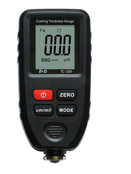 TC100-grey TC-100 TC100 тс100 тз 100 товщиномір фарби, Fe/NFe, до 1300 мкм (комлект стандарт) + батарейка