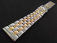 Браслет для годинника з нержавіючої сталі 316L, литий, глянець. Пряме / заокруглене закінчення. 16 мм, фото 1