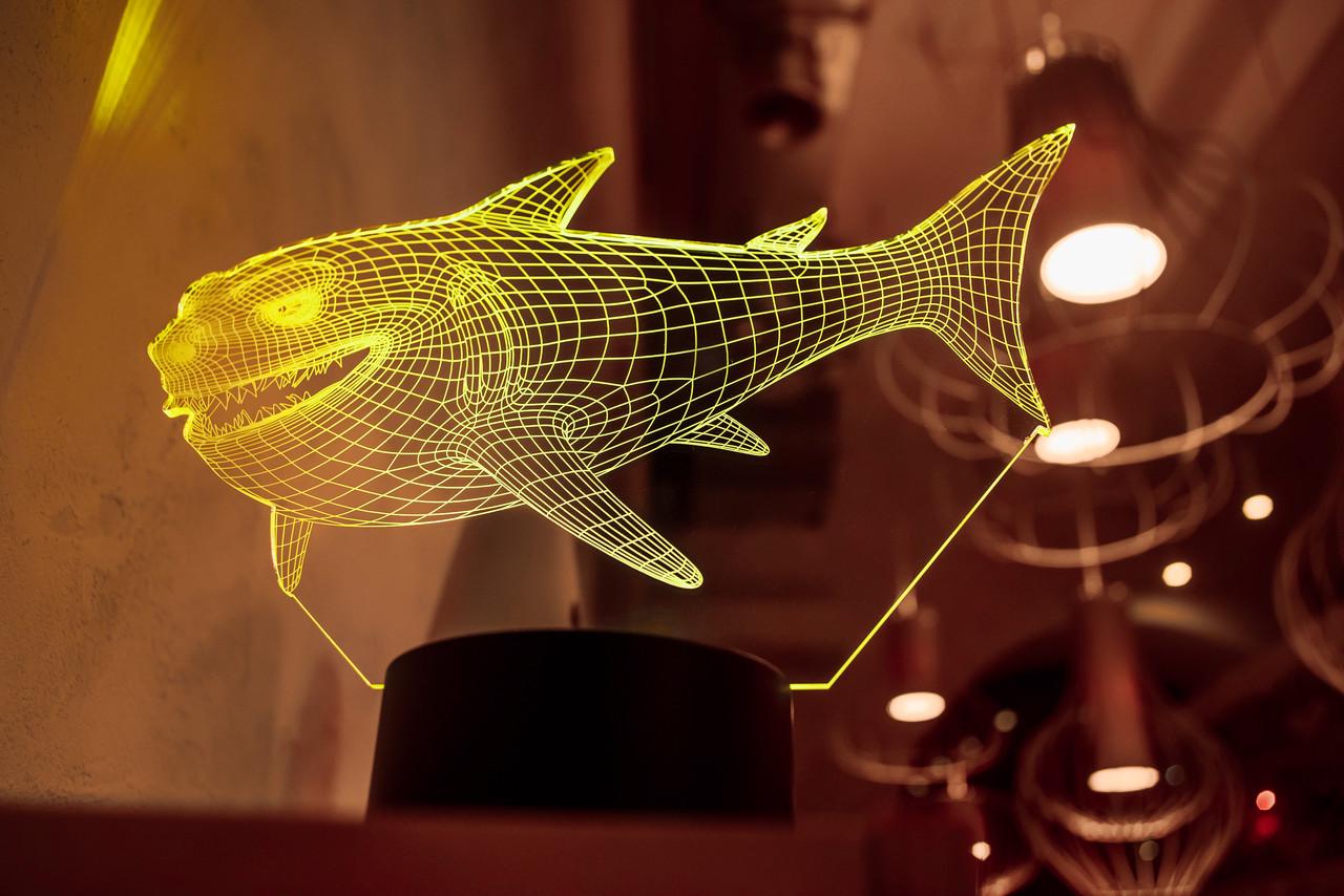 "3d светильник ""Акула"" 3DTOYSLAMP"