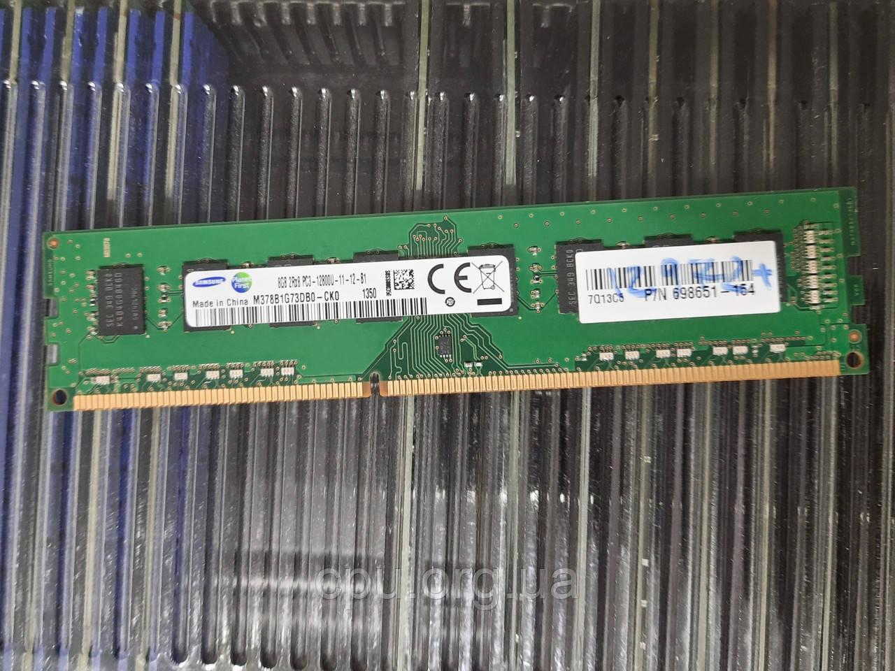 Оперативная память Samsung 8gb ddr3 12800U 1600Mhz для ПК