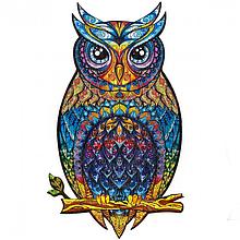 Деревянный пазл Чарующая сова