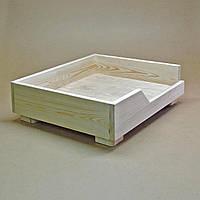 """Лежак деревянный для собаки """"Дерби 45х55"""" бланже"""