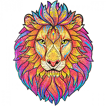 Дерев'яний пазл Таємничий Лев