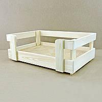 """Лежак деревянный для собаки """"Бонелли 90х60"""" бланже"""