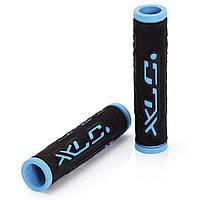 Грипсы Dual Colour XLC GR-G07, черно-голубые (ST)