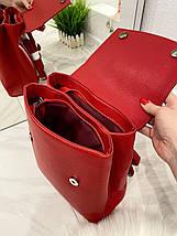 Женский рюкзак Fashion Club на 2 отделения красный РКФ7, фото 3