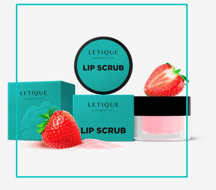 Скраб для губ солодка полуниця Letique