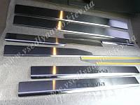 Защита порогов - накладки на пороги Skoda Octavia A5 с 2004 г. (Standart)