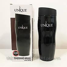 Термокружка UNIQUE UN-1071 0.38 л. Цвет: черный