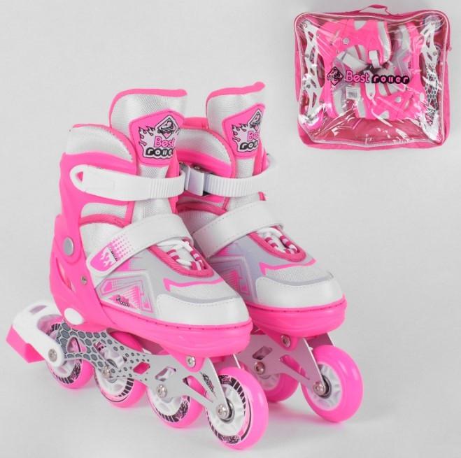 Ролики роликовые коньки детские Best Roller 9225-М размер 34-37