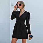 Женское платье, костюмка класса люкс, р-р 42-44; 46-48 (чёрный), фото 3