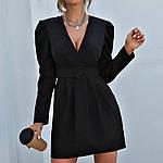 Женское платье, костюмка класса люкс, р-р 42-44; 46-48 (чёрный), фото 2