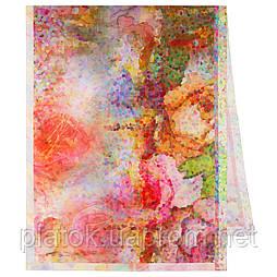 Палантин из вискозы 10368-3, павлопосадский палантин из вискозы, размер 80х200