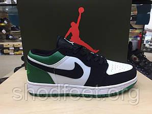 Женские кроссовки Jordan 1 Low Black Mystic Green