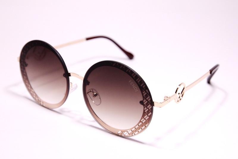 Жіночі сонцезахисні круглі окуляри Фенді 2078 C репліка